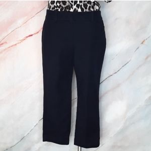 ANN TAYLOR Curvy Navy Cropped Pants 8